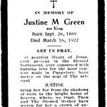 Green, Justine M. - 1922