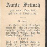 Fritsch, Annie - 1921
