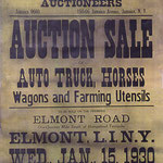 Auction- Henry and Jacob Hoeffner, Elmont Rd, Elmont - 1930