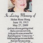 Hoeg, Helen Rose - 2009