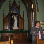 St. Dominic Chapel - Sister Barbara presenting their history