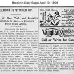 Brooklyn Daily Eagle - Elmont Stirred Up - Daniel Stattel - April 10, 1906