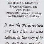 Guardino, Winifred F. - 2001