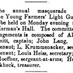 Hempstead Sentinel - Young Farmers Light Guard - Feb. 1901