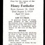 Forthofer, Henry - 1929
