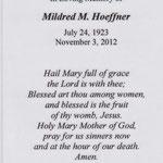 Hoeffner, Mildred  - 2012
