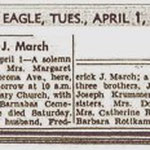 Brooklyn Eagle - Margaret March - Apr. 1, 1947