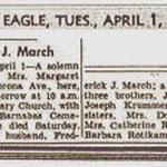 Brooklyn Eagle - Margaret March - Apr. 1, 1947