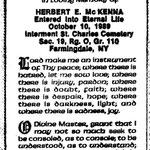 McKenna, Herbert E. - 1989
