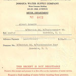 Jamaica Water Supply Company - Advance Payment - North Merrick Rd, and Fosters Meadow Rd, Rosedale - Sept. 29, 1929