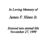 Hines, James F.,  Jr. - 1999
