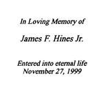 Hines, James F.,  Jr. - 1999