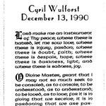 Wulforst, Cyril - 1990