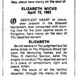 Wicks, Elizabeth - 1982