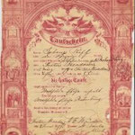 Riff (aka Ryf), Mathildae Elise - Baptismal certificate - June 8, 1879, daughter of Johann and Wilhelmina. - St. Paul's Church