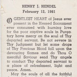 Hendel, Henry J. - 1961