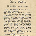 Seidler, John - 1939