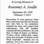 Joseph, Rosemary A. 2014