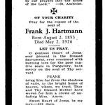 Hartmann, Frank J. - 1926