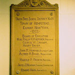 Union Free School District No. 16 - plaque in lobby, Elmont School, Elmont Rd., Elmont, LI