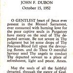 Dubon, John F. - 1952