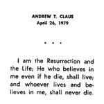 Claus, Andrew T. - 1979