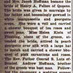 Hempstead Sentinel  - Hoffman - Felton Wedding - June 1919