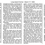 Long Island Farmer - Who burned the church? March 17, 1905