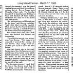 Long Island Farmer - Who burned the church? March 17, 1905