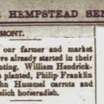 Hempstead Sentinel - Farmers Report - March 1903