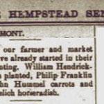 Hempstead Sentinel - Farmers Report - March 1903