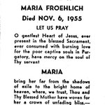 Froehlich, Maria - 1955