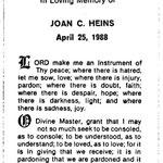Heins, Joan C. - 1988