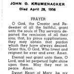 Krumenacker, John O. - 1956
