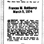 Rottkamp, Frances M. - 1974