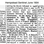 Hempstead  Sentinel - St Paul's Beginning - June 1904