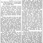 Newtown Register - Reckless Auto Drivers Still In Evidence - Nov. 30, 1916