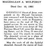 Wulforst, Magdalean A. - 1961