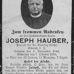 Hauber, Rev. Joseph - 1905