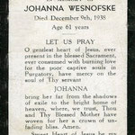 Wesnofske, Johanna - 1938