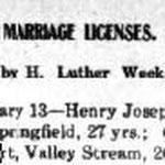 Hempstead Sentinel - Marriage License: Rottkamp - Reisert - Feb. 16, 1911