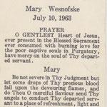 Wesnofske, Mary - 1963