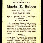 Dubon, Maria E. - 1921