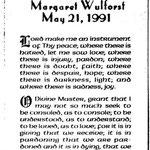 Wulforst, Margaret - 1991