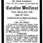 Wulforst, Caroline - 1926