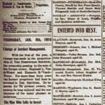 Hempstead Sentinel - John Hummel Death Notice - Jan. 6, 1916