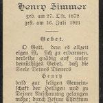 Zimmer, Henry - 1921