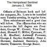 Hempstead Sentinel - Officers Belmont Fire Dept. - Jan. 2, 1908