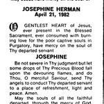 Herman, Josephine - 1982