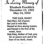 Froehlich, Elizabeth - 2000